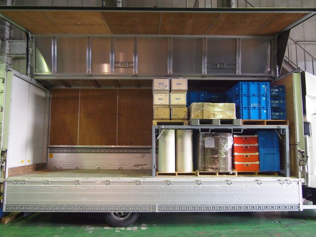 トラック搭載用デッキラック