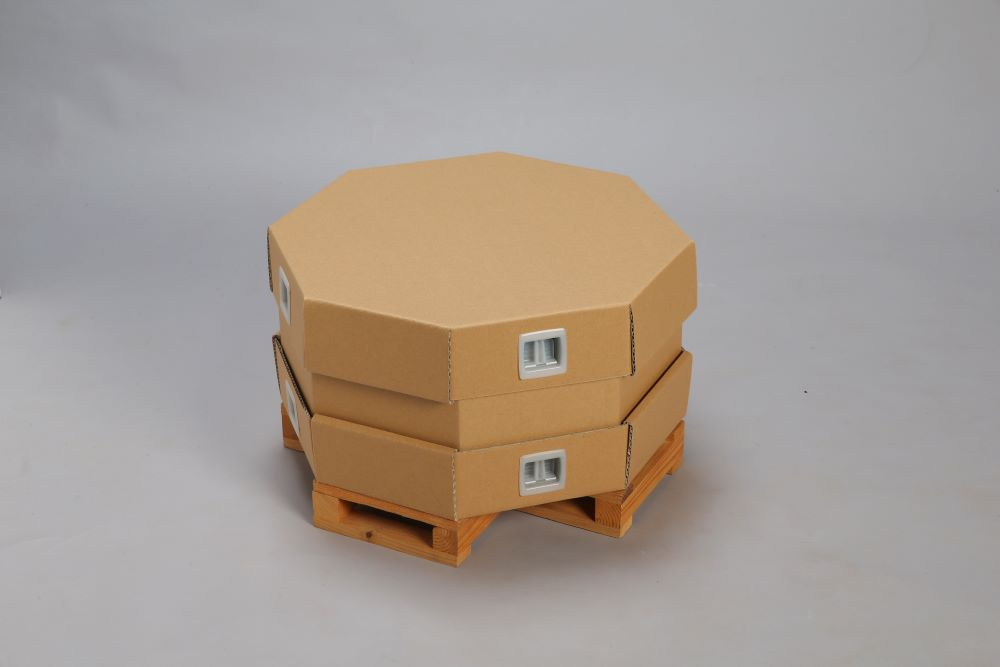 鋳物加工品の省スペース包装