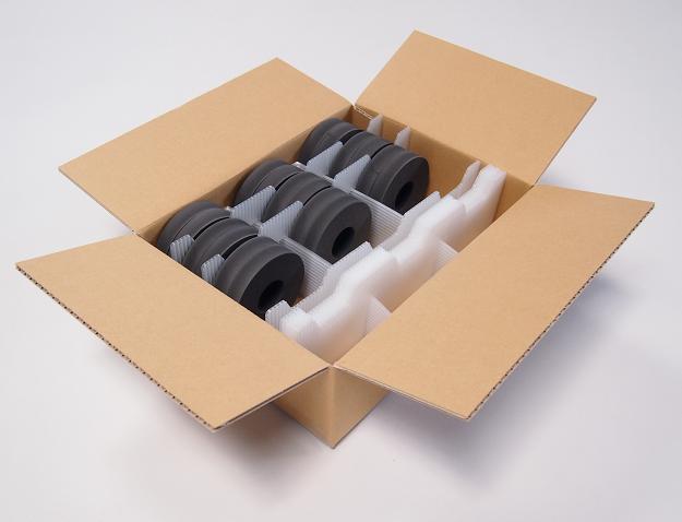 厚み違い製品のための仕切り包装