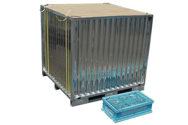 軽量型組み立て式スチコンとプラスチックボックス
