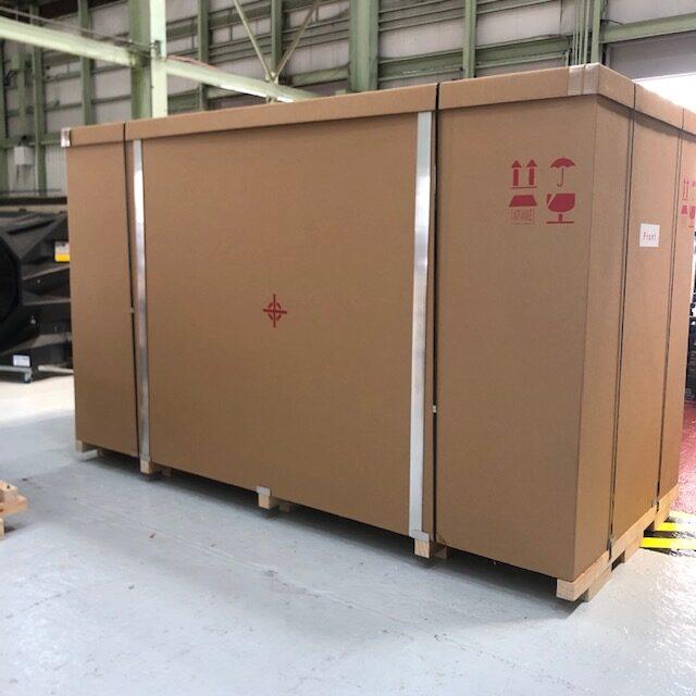 大型重量物の航空輸出梱包事例